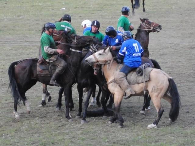 Altai national game Kok boru (Кӧк бӧрӱ)
